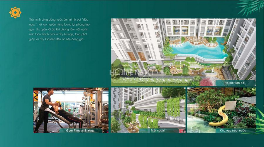 Tiện ích Aqua Garden tại Phú Đông Sky Garden Dĩ An