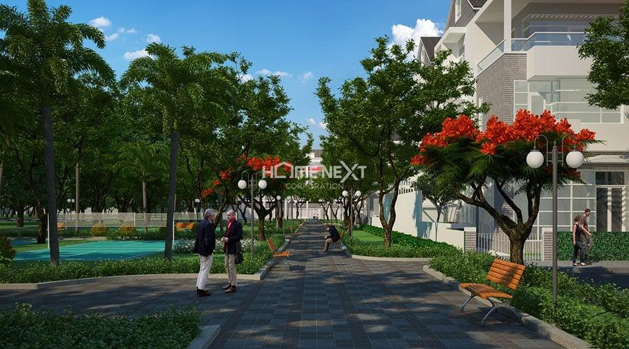 tiện ích hồ gươm xanh Thuận An City