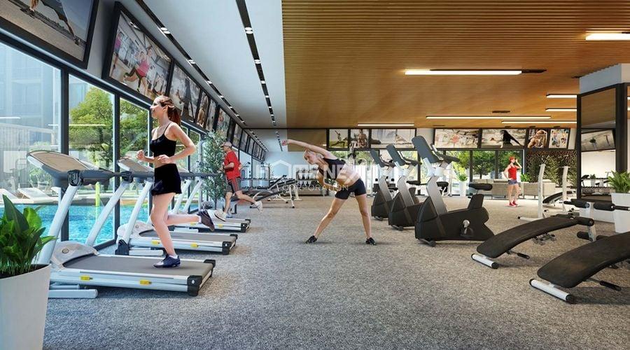 Phòng tập gym được thiết kế hiện đại