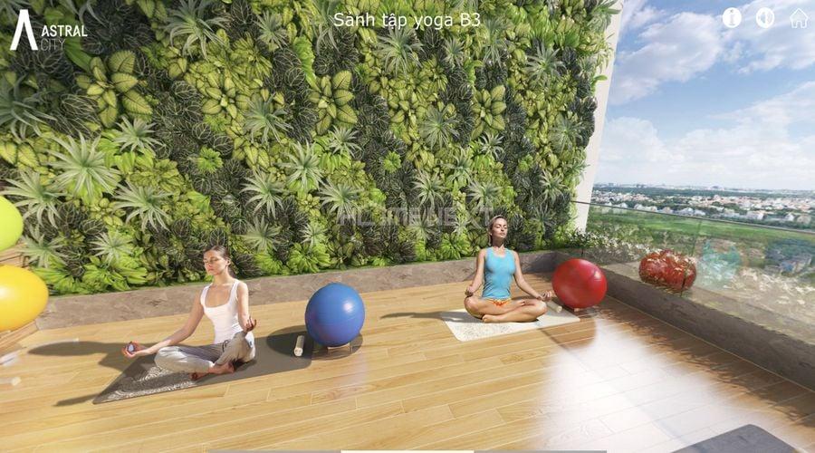 Khu tập Yoga và thiền trên tầng 20 – tháp Vega