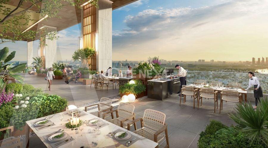 Khu BBQ trên cao, vừa thưởng thức món ăn ngon vừa được ngắm cảnh đẹp Thuận An