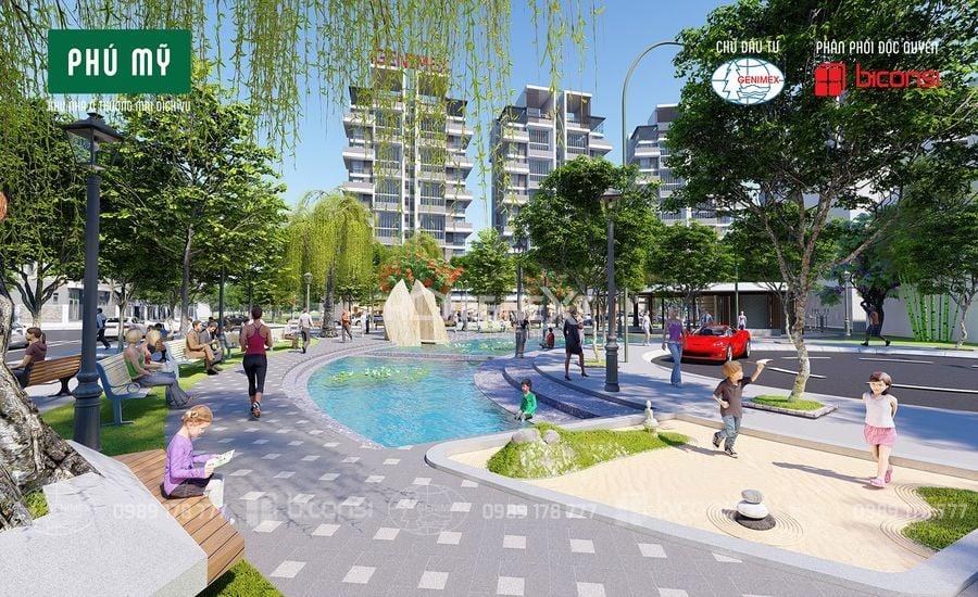 Khuôn viên xanh ngay tại dự án