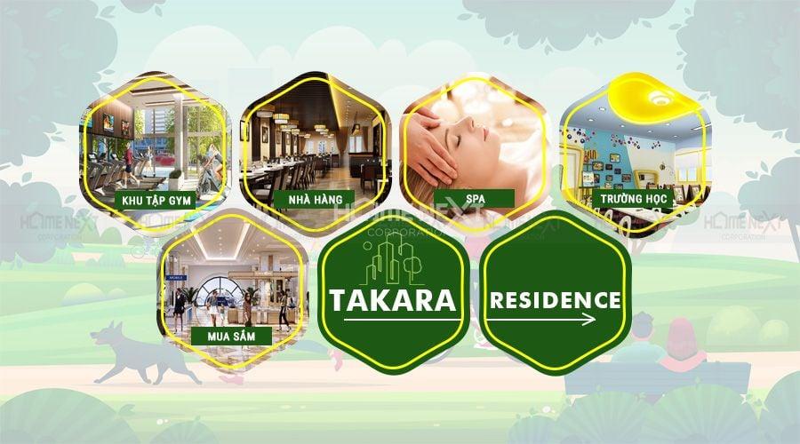 Tiện ích dịch vụ Takara Residence hữu ích đáp ứng nhu cầu sinh hoạt hàng ngày