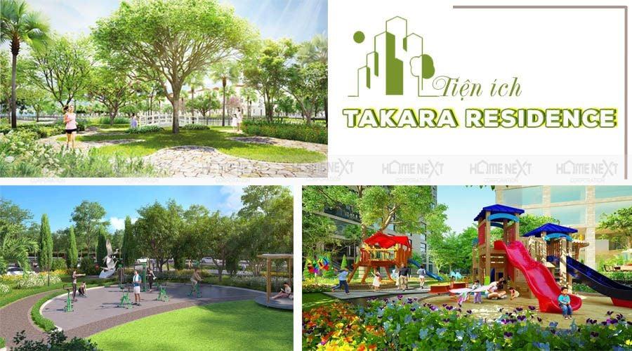 Mảng xanh tại nhà phố Takara Residence