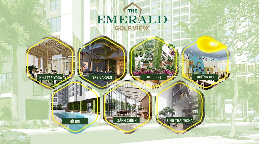 Tiện ích nội khu tại The Emerald Golf View