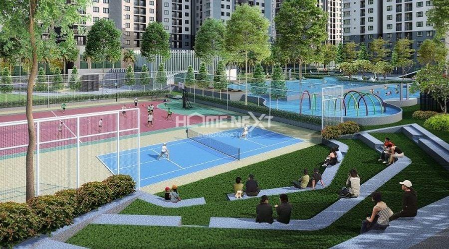 Sân chơi tennis tại 9x Ciao Dĩ An Bình Dương