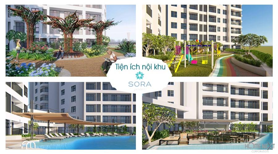 Tiện ích dự án căn hộ chung cư Sora Garden 2
