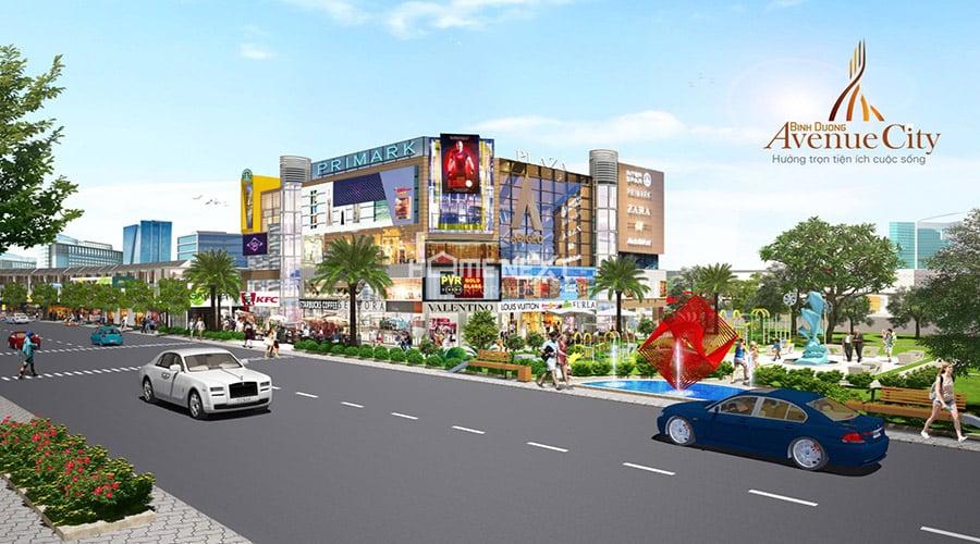 trung tâm thương mại tại dự án Avenue City