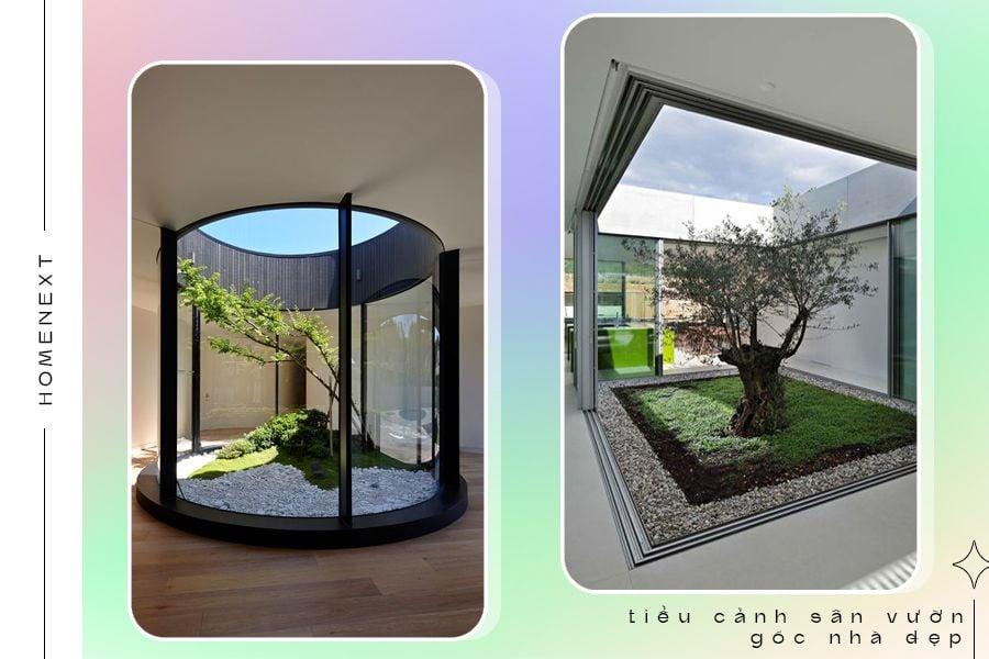 Thiết kế tiểu cảnh giếng trời trong nhà ống hiện đại