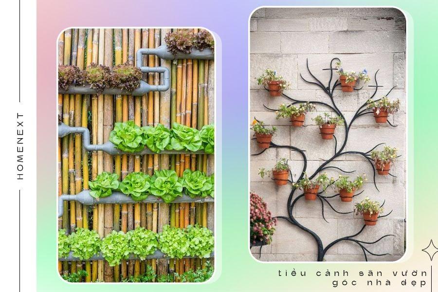 Những bức tường thô, cứng biến thành những bức tranh, tiểu cảnh tuyệt đẹp