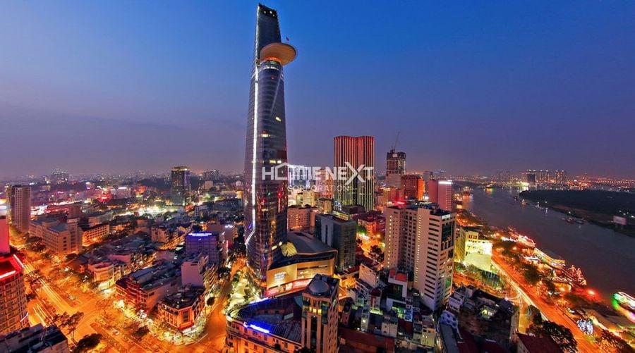 Cảnh về đêm tại Q1 thành phố Hồ Chí Minh