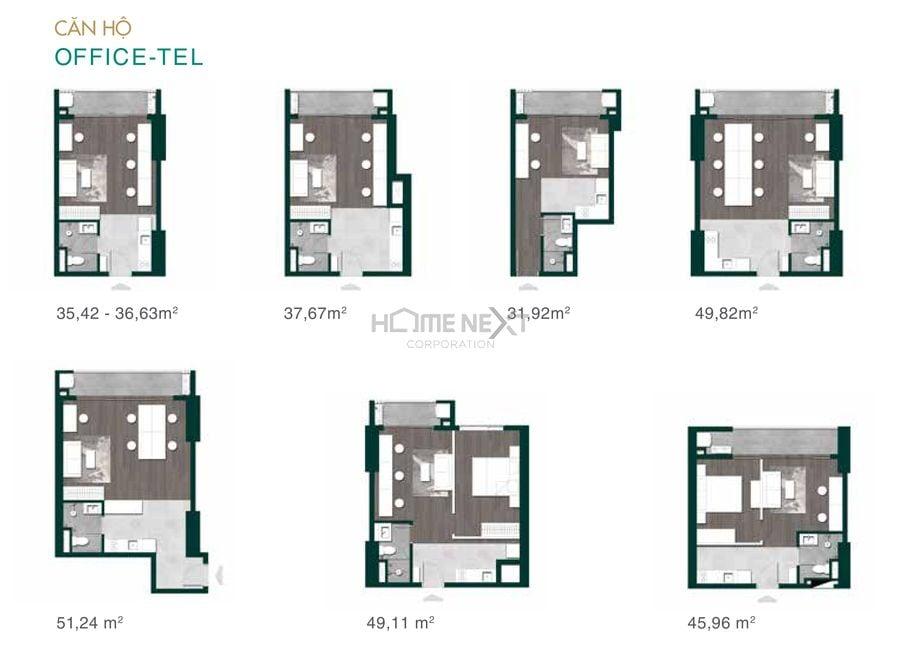 Các mẫu căn hộ Officetel Lavita Thuận An