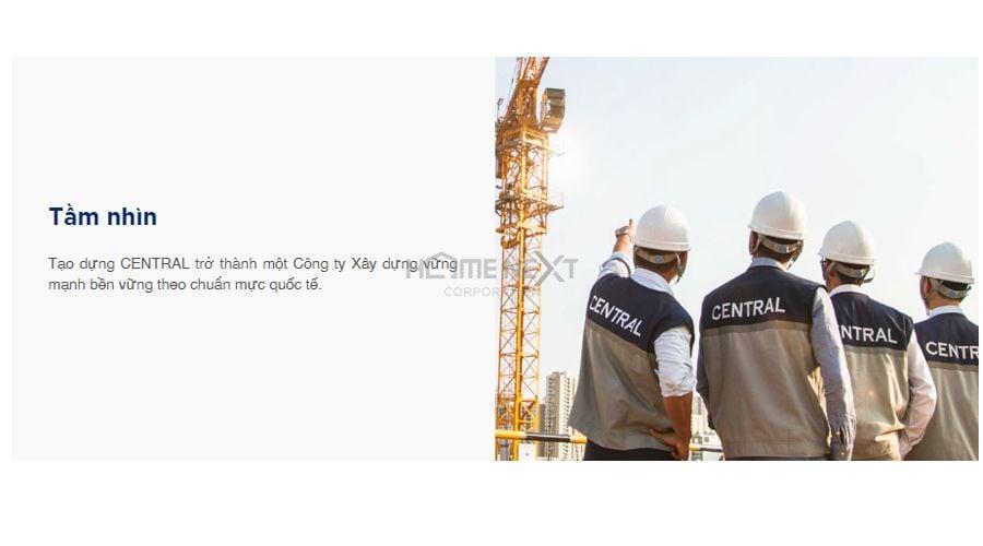 Tầm nhìn rộng của công ty xây dựng Central theo chuẩn mực quốc tế