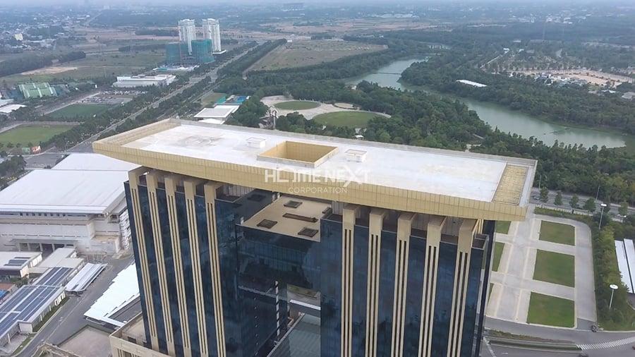 Thiết kế tòa nhà có bãi đáp trực thăng