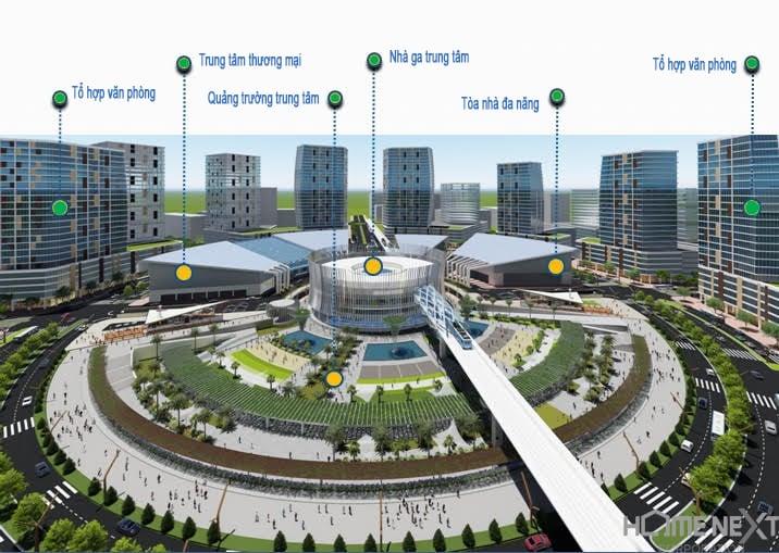 Mô hình dự án Trung tâm Thương mại Thế giới tại Bình Dương
