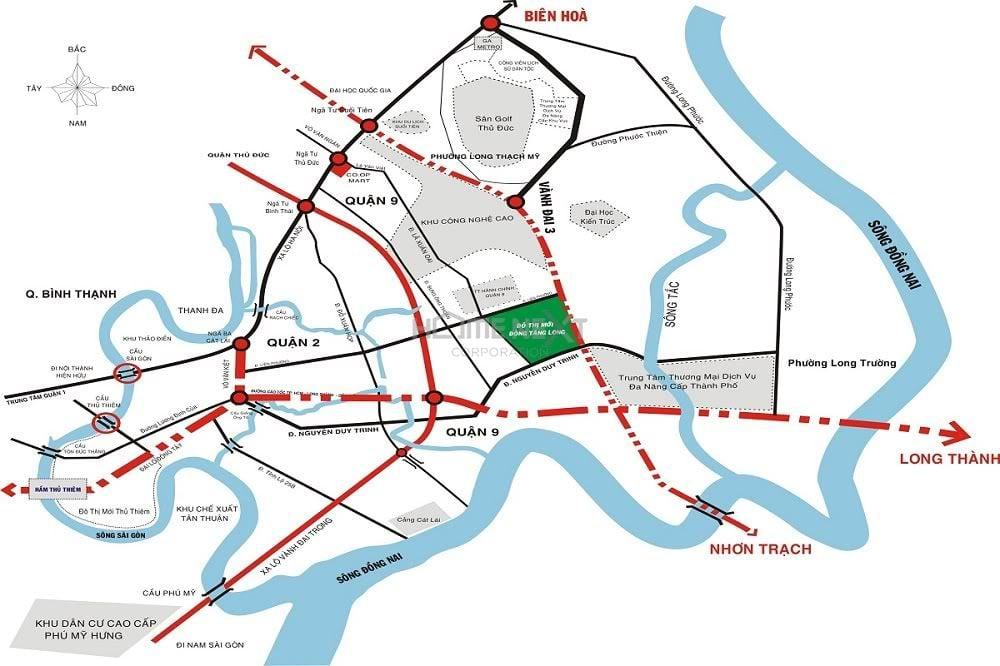 đường vành đai 3 đi ngang dự án vinhomes quận 9