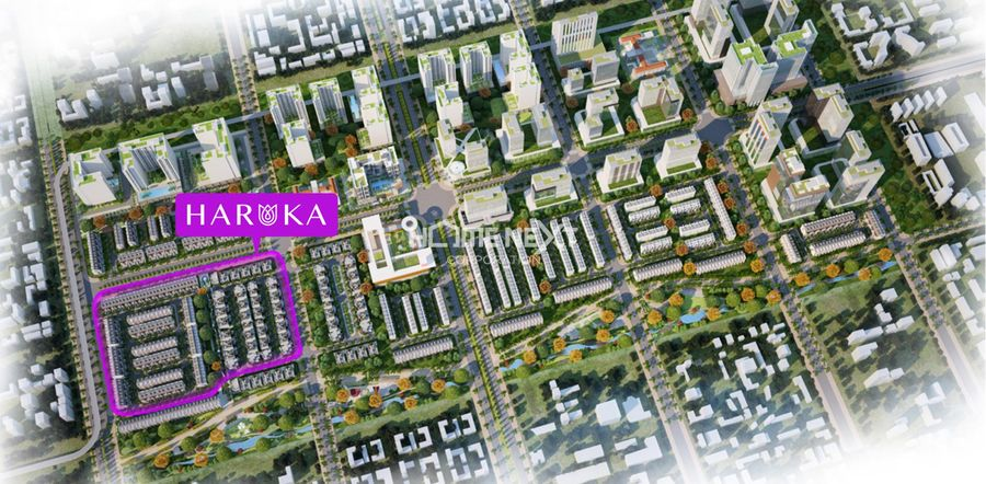 Vị trí dự án nhà phố liền kế Haruka Bình Dương