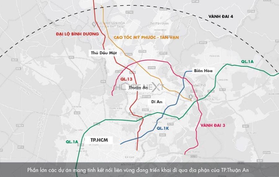 Thuận An với nhiều lợi thế vị trí, khả năng liên kết vùng của khu vực này rất lớn