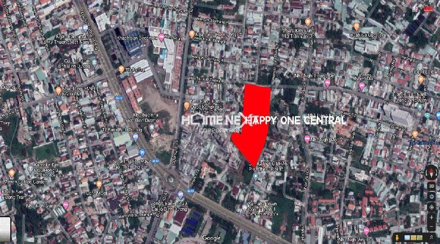 Vị trí dự án Happy One Central Bình Dương