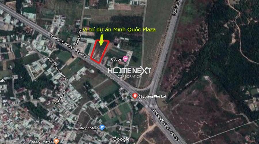vị trí dự án căn hộ MInh Quốc Plaza