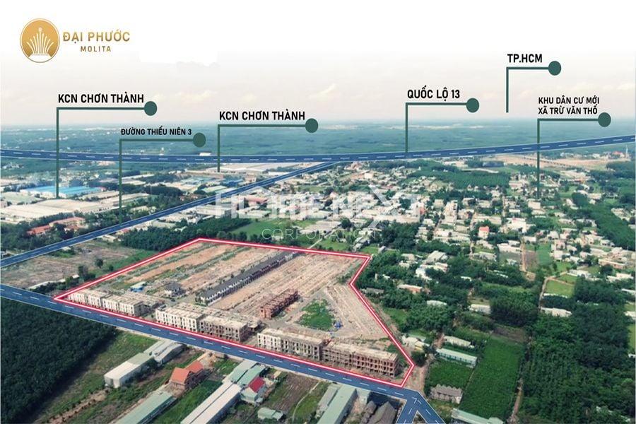 Vị trí khu đất dự án Đại Phước Molita tại xã Trữ Văn Thố, huyện Bàu Bàng, Bình Dương
