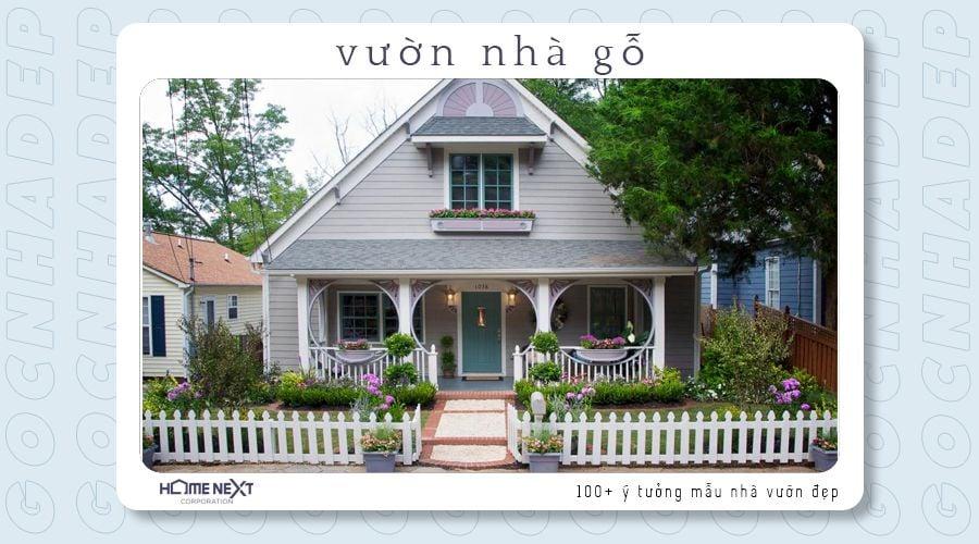 Mẫu nhà vườn gỗ này thấy là yêu với tông màu sắc trắng ngà tao nhã