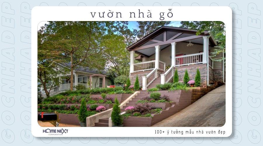 Với căn nhà và khu vườn có từng cấp bậc nổi bật