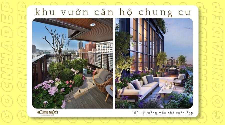 thiết kế sân vườn cho căn hộ chung cư penhouse