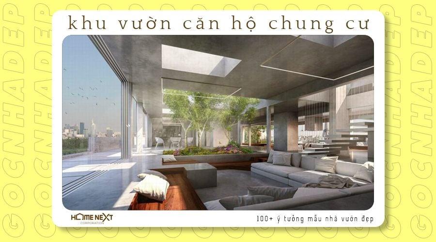 thiết kế sân vườn cho căn hộ chung cư