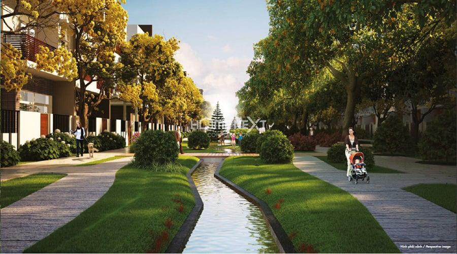 cảnh quan midori park thành phố mới bình dương